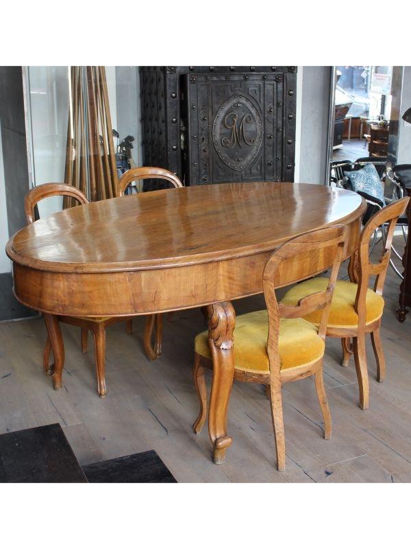 Tavolo da pranzo ovale con 4 sedie del 1830 ca, Italia ...