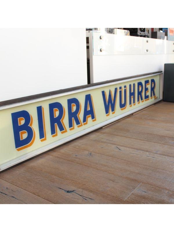 Insegna 'Birra Wuhrer' Wuhrer del 1950 ca