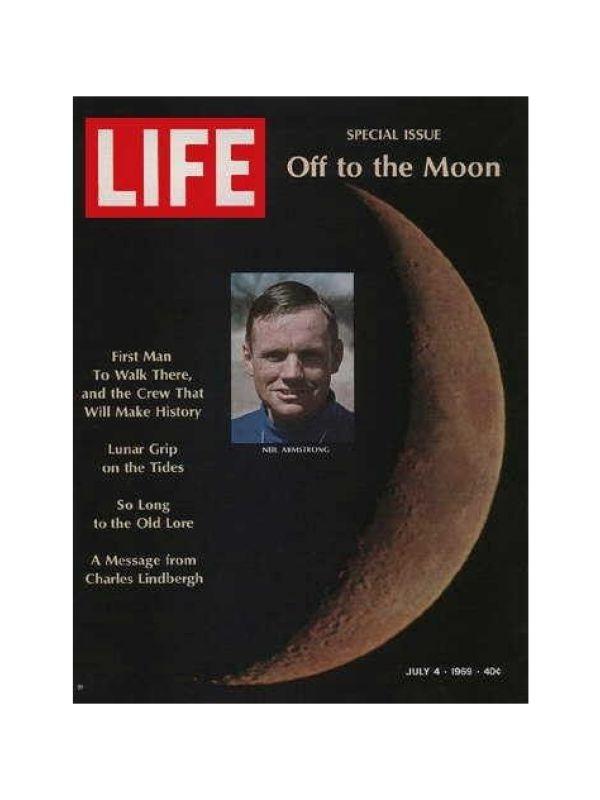 Rivista 'Life' - Allunaggio  Time Magazine del 4 Luglio 1969