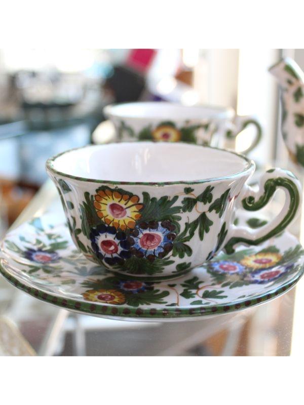 Servizio da tè di Faenza (6 pz) Manifattura di Faenza del 1930 ca
