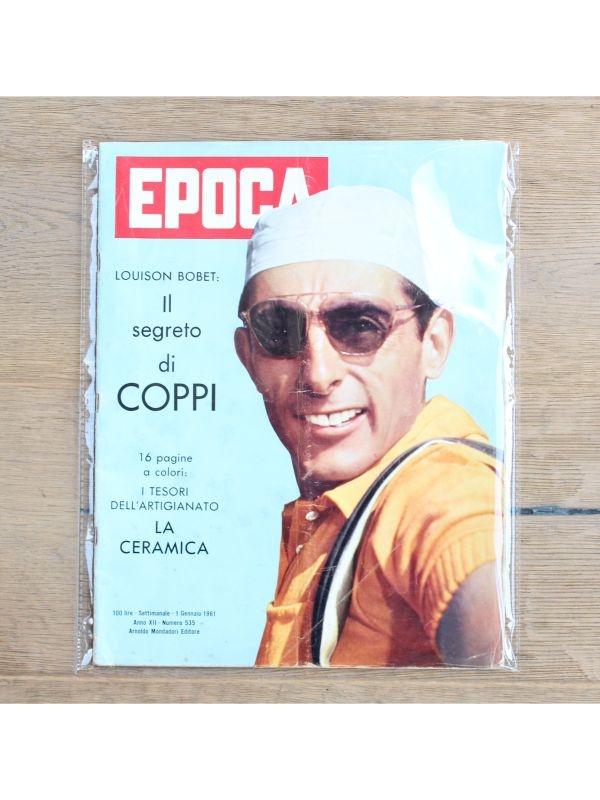 Rivista  'Epoca' - Fausto Coppi Arnoldo Mondadori Editore del 1 Gennaio 1961