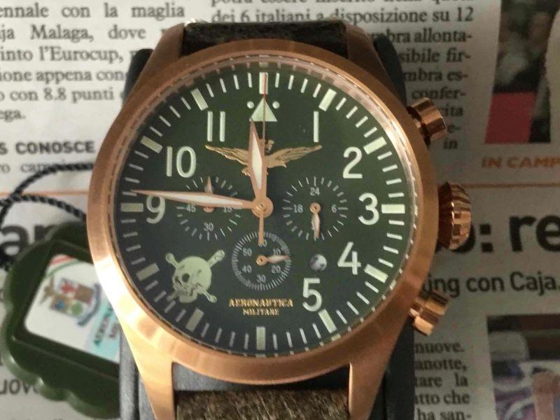 Aeronautica militare Chrono aviator vintage Assi limited ed., 2018