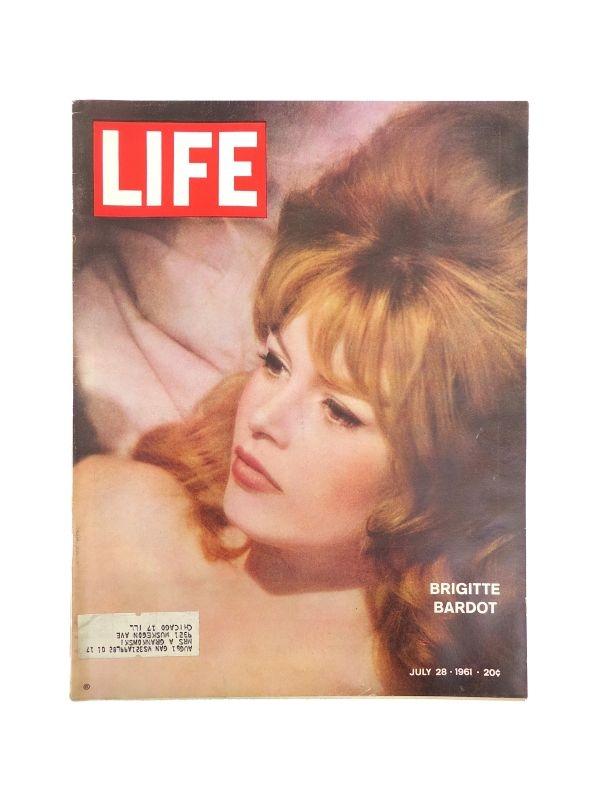 Rivista 'Life' - Brigitte Bardot Time Magazine del 28 Luglio 1961