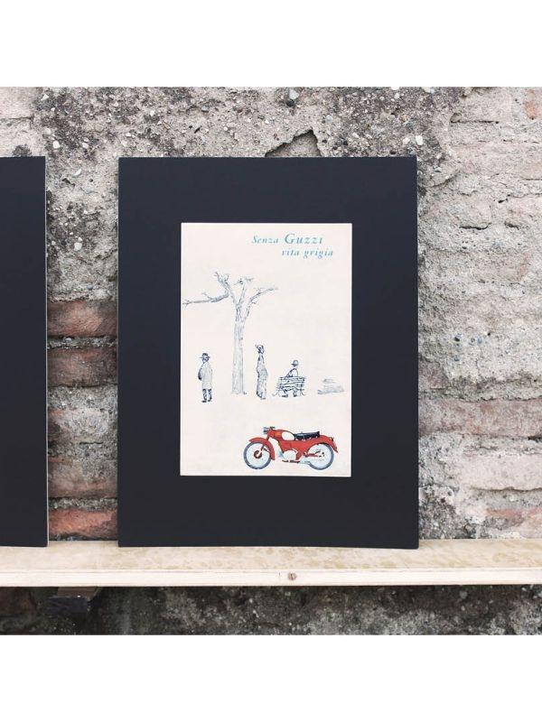 """Pubblicità d'epoca """"Moto Guzzi"""" Guzzi del 1961"""