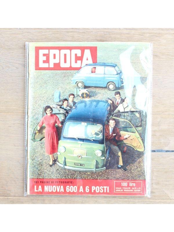 Rivista 'Epoca' - La nuova 600 Arnoldo Mondadori Editore del 15 Gennaio 1956