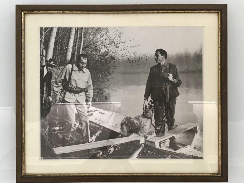 Fotografia di Coppi e Bartali con firme autentiche e dedica