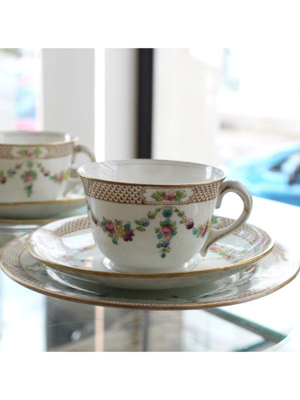 Servizio da tè (2 pz) Balmoral China - R&D Ltd England del 1909-1933