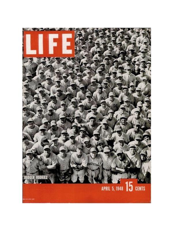 Rivista 'Life' - Baseball Time Magazine del 5 Aprile 1948