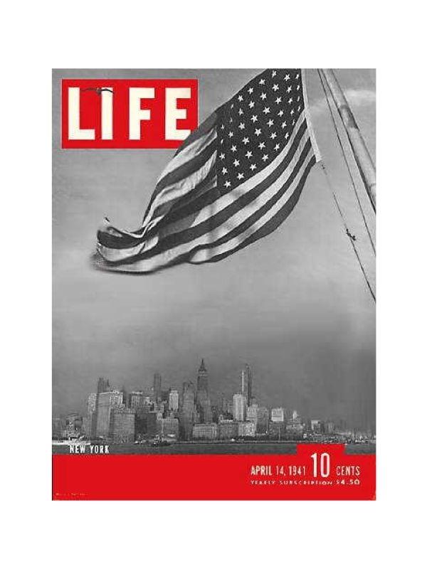 Rivista 'Life' - New York Time Magazine del 14 Aprile 1941