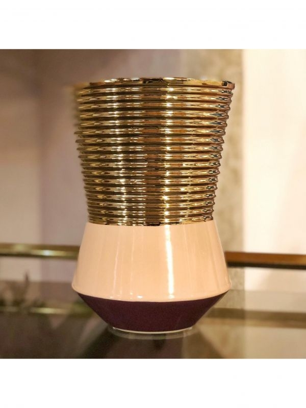 Vaso in ceramica smaltata   del 1960 c.a.