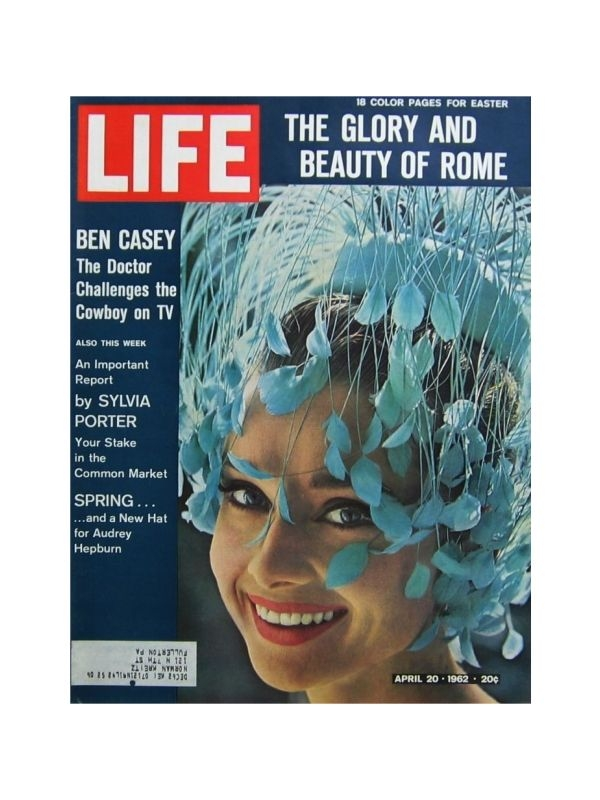 Rivista 'Life' - Audrey Hepburn Time Magazine del 20 Aprile 1962