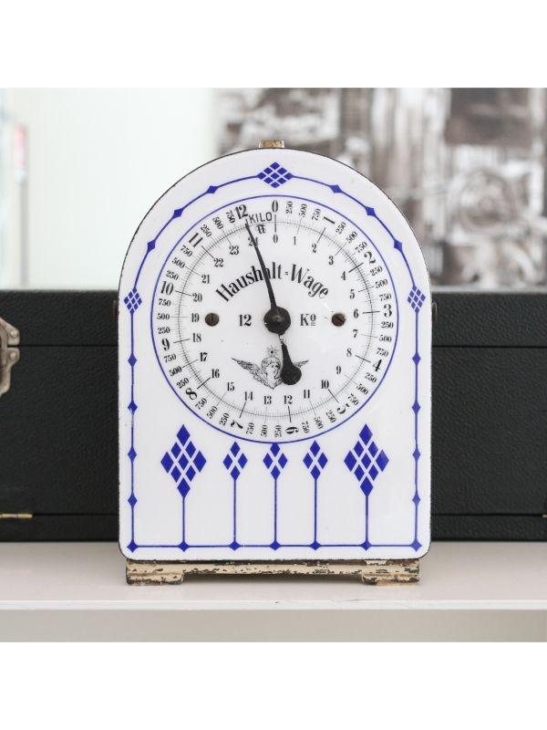Haushaltswaage Bilancia in ceramica, anno 1910-20