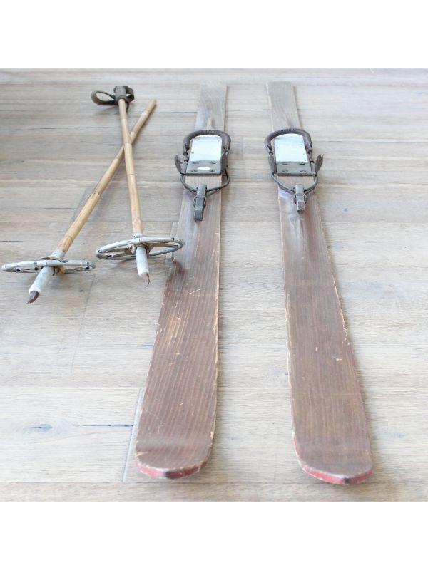 Sci da neve in legno   del 1930 ca