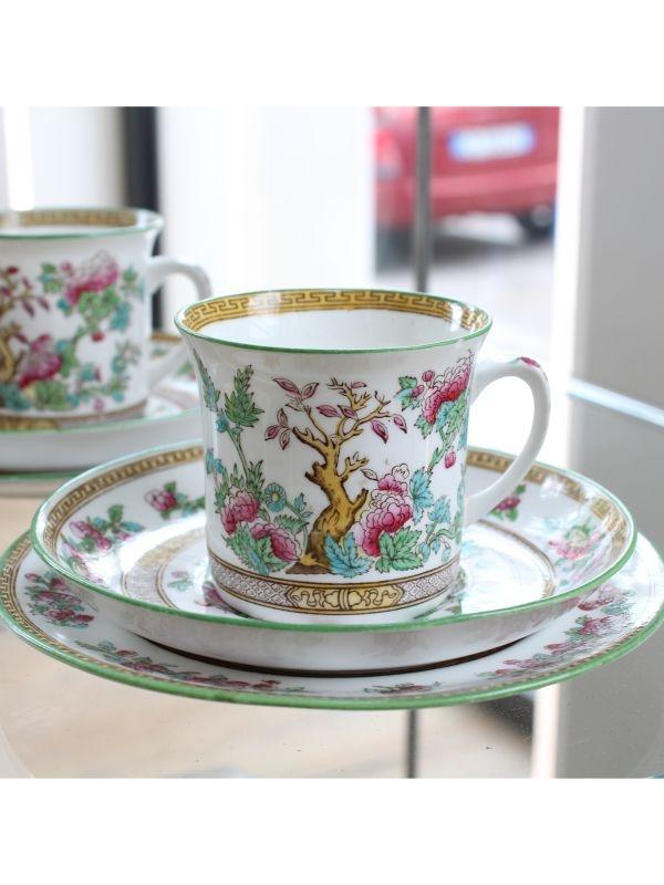 Servizio da tè (2 pz) Foley Art China - Peacock Pottery del 1920-30